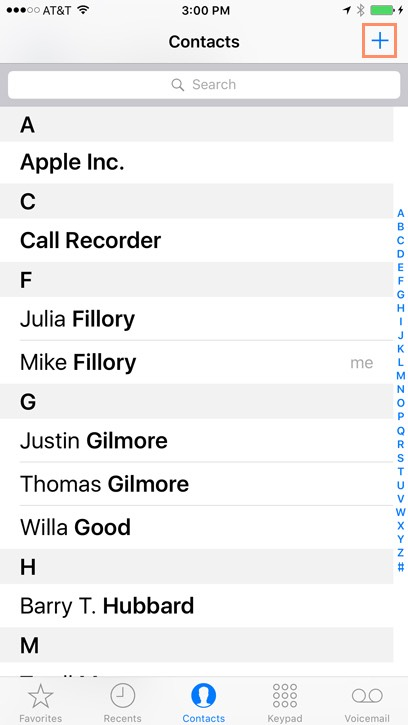 Image Gallery Iphone Contacts