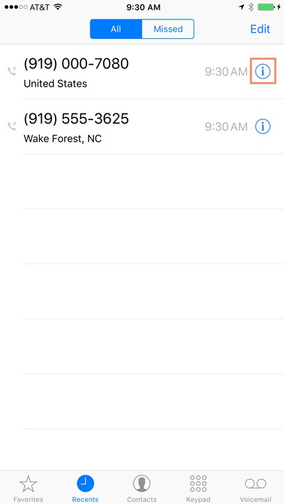 iphone contacts