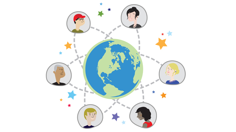 A network of people from around the world