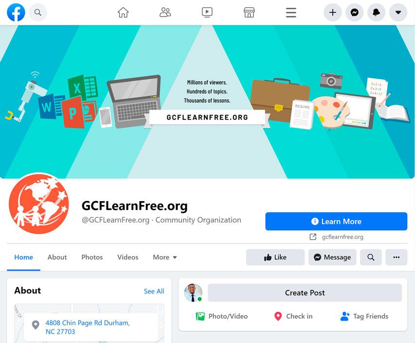 GCFLearnFree.org Facebook page