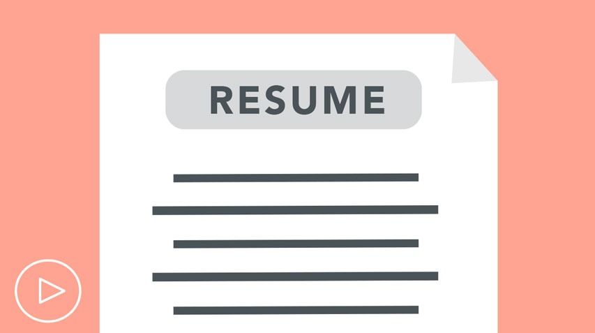 resume video illustration