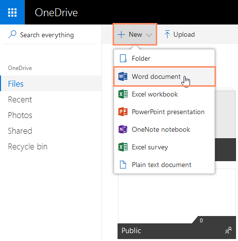 OneDrive and Office Online: Create and Share Office Documents Print Page