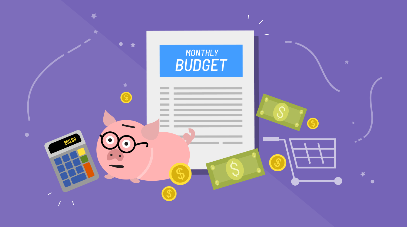 illustration of a monthly budget