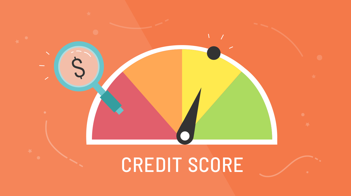 illustration of a credit score