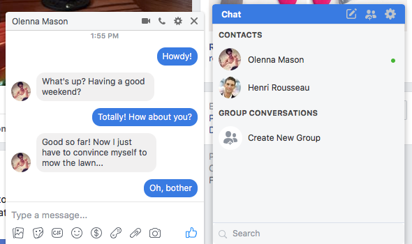 Facebook: Chat and Messages