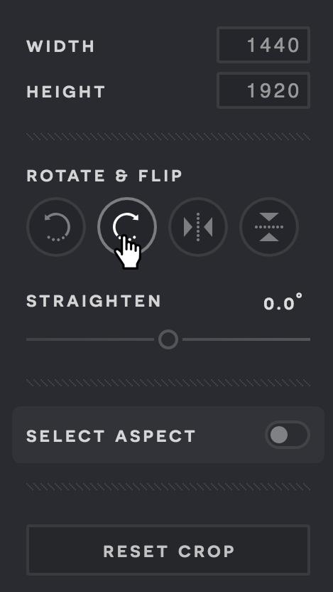 A screenshot of a Pixlr X menu.