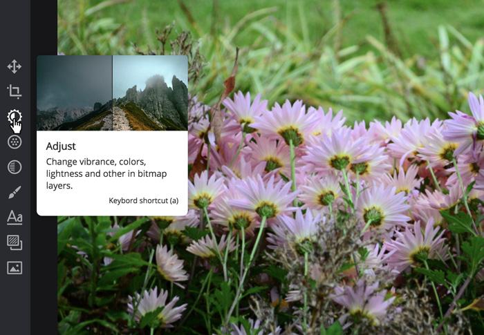 A screenshot of the Pixlr X interface.