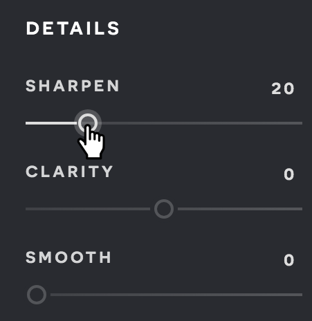 A screenshot of the Pixlr X Filter menu.