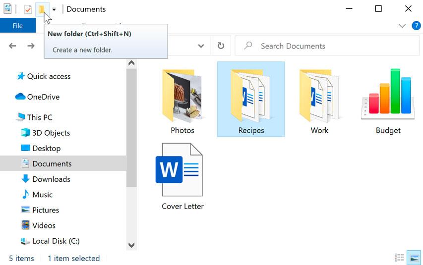 new folder