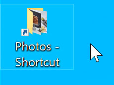 shortcut created