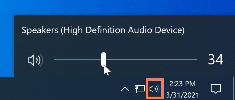 audio button to check volume level