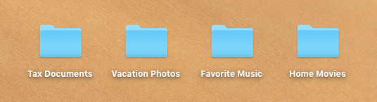 screenshot of various folders in macOS