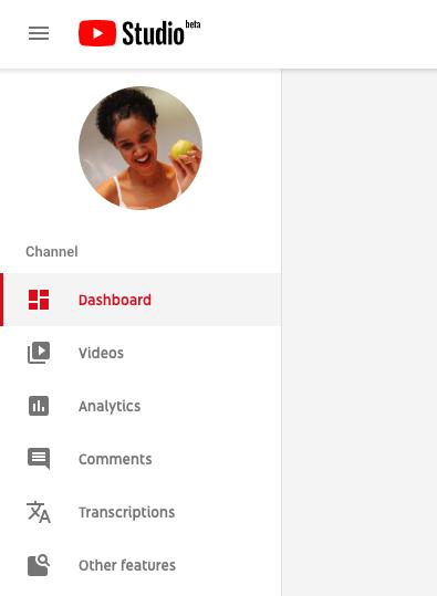 screenshot of the YouTube Studio sidebar