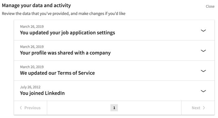 A screenshot of a LinkedIn privacy setting