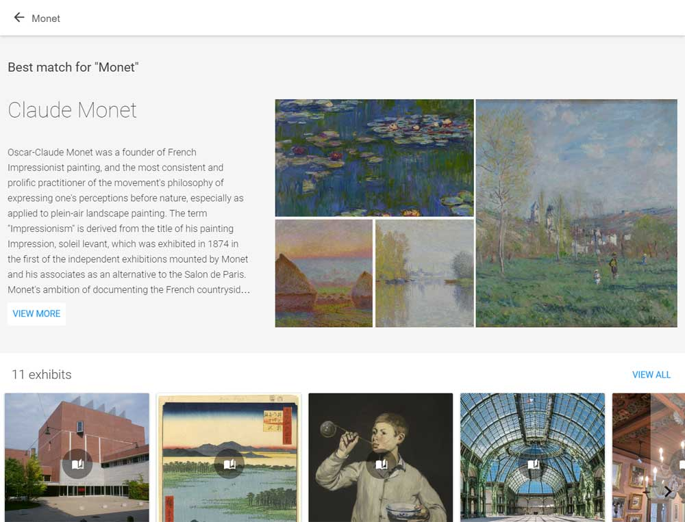 Google Art Project search tool