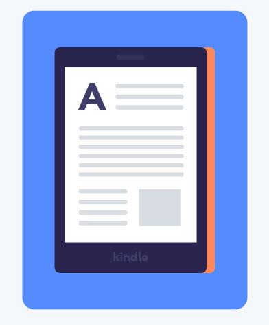 Kindle e-reader illustration