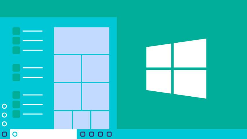 Windows 10 illustration of the desktop