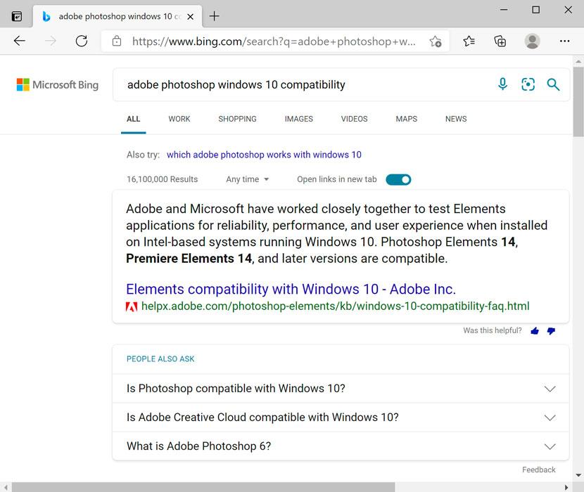 windows 10 compatibility search