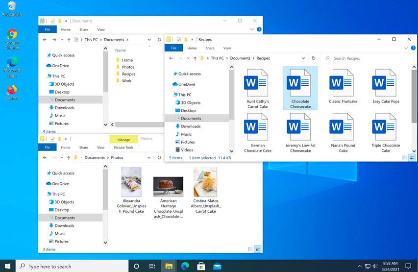 screenshot of the Windows 10 desktop with two windows open