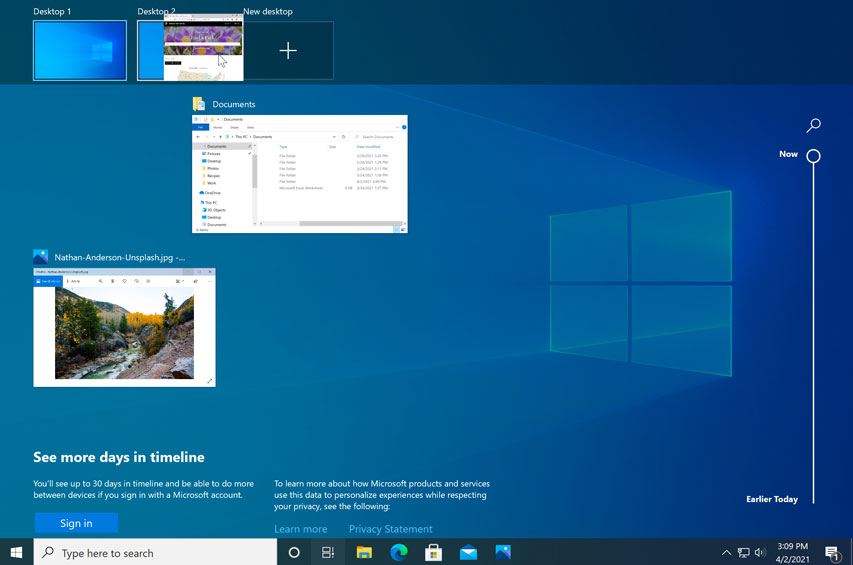 dragging a window to a different desktop