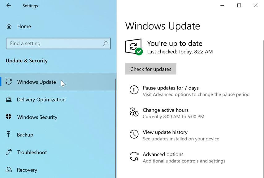 windows update preferences