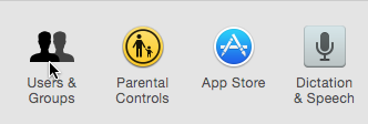 Icons from the System Preferences window