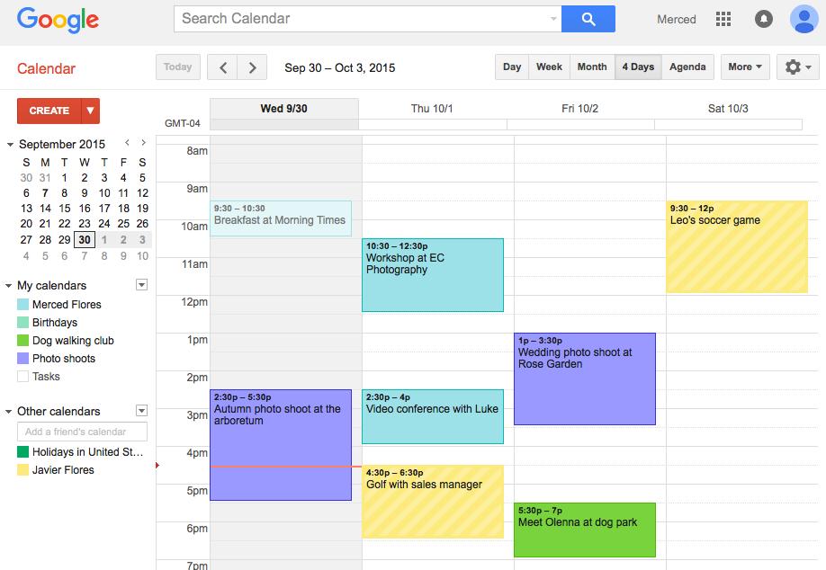 Google Calendar Planner View : Topic time management organizational skills my e