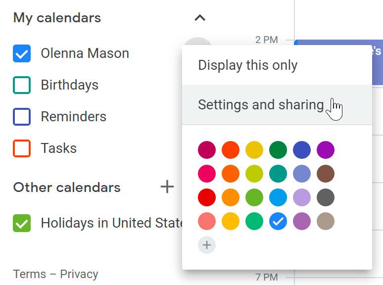 Customize calendars