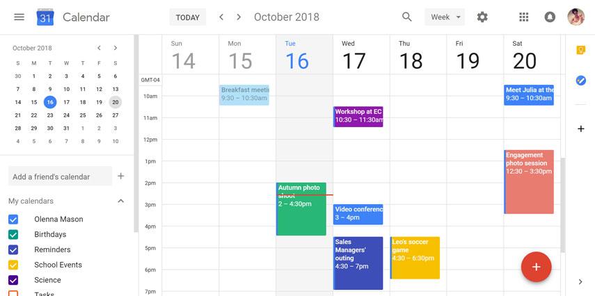 Το ημερολόγιο Google