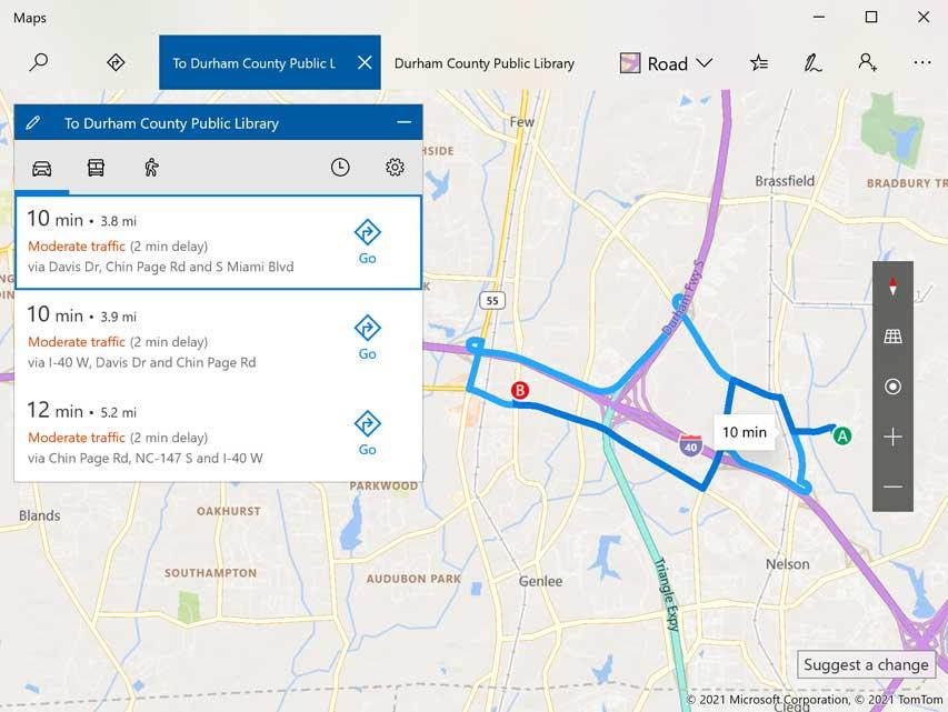 Maps in Windows 10