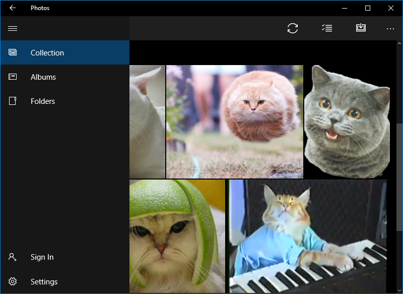 Photos app in Windows 10