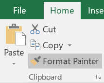 Screenshot of Format Painter command