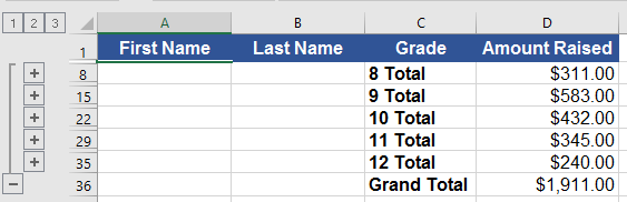 Grouping and Subtotals Challenge