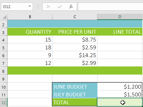 Excel 2016: Intro to Formulas