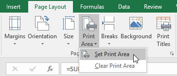 Set Print Area