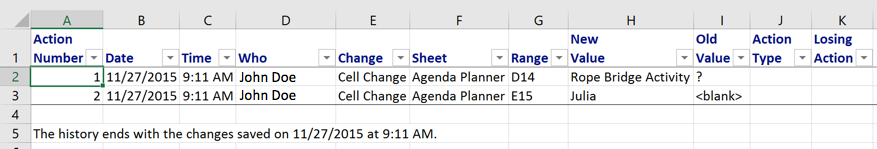 Changes on Separate Sheet