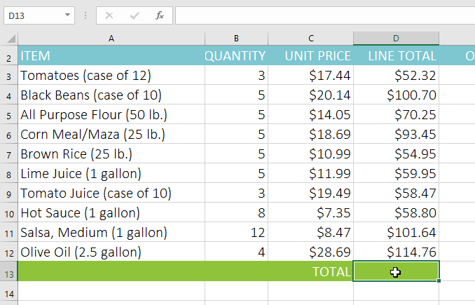Excel Auto Sum Selected Cells - using excel s functions ...