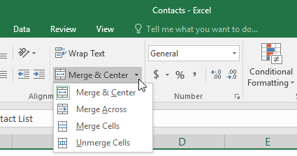 other cell merge options