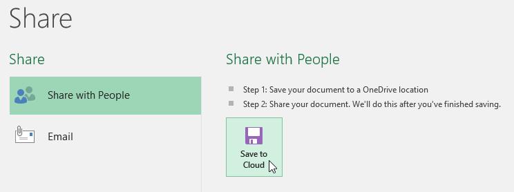 Mengklik Save to Cloud