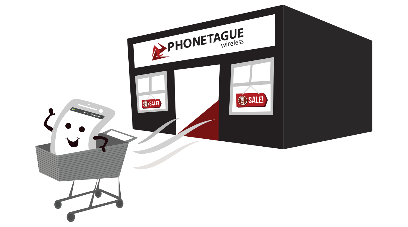 illustration of a cell phone store
