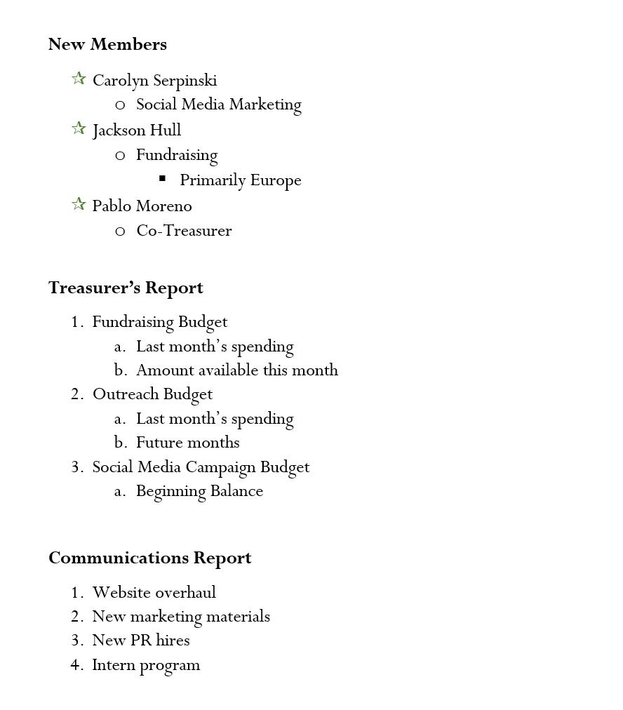 Lists Challenge