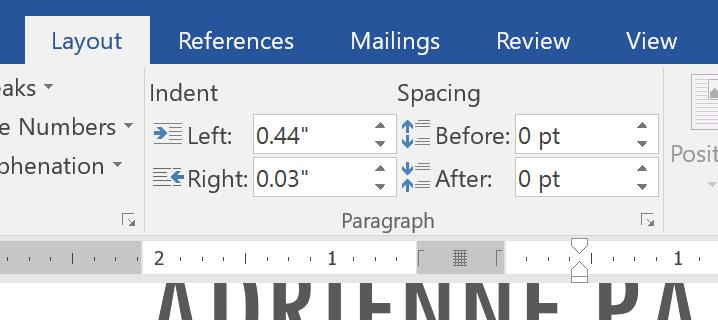 customizing indent amounts