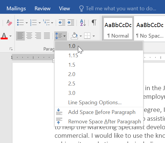 Microsoft Word Letter Spacing.Word 2016 Line And Paragraph Spacing