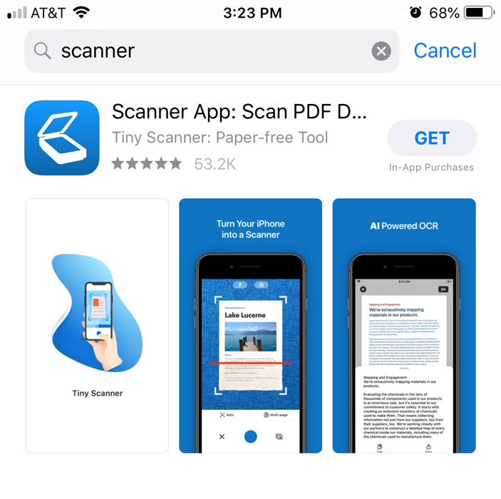 downloading a scanner app