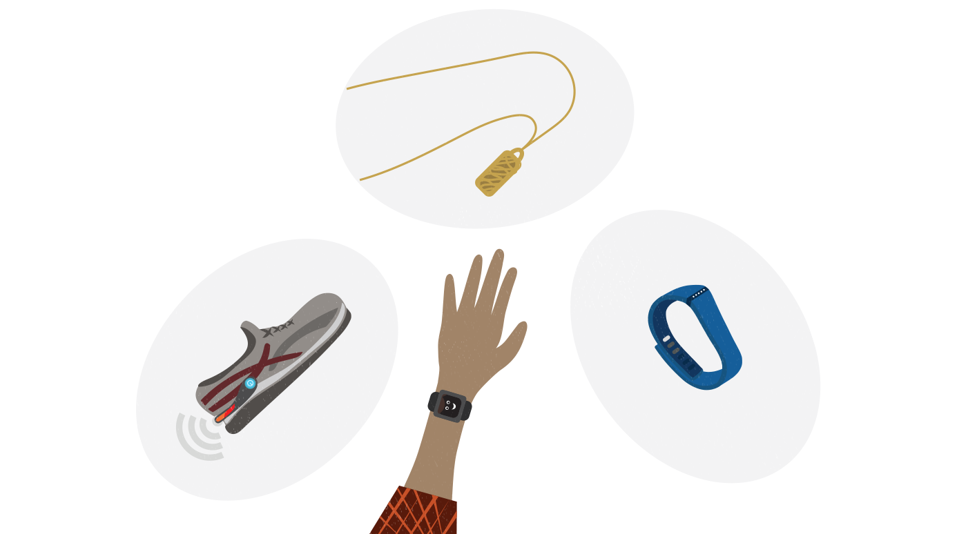 illustrations of different wearable devices