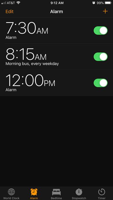 Clock on iOS
