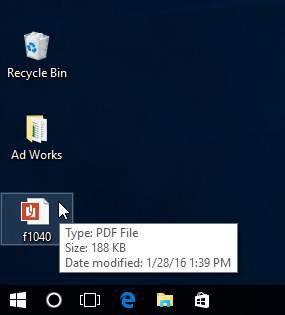 opening a PDF file saved to a computer