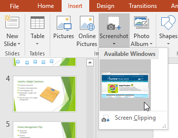 How To Insert And Delete Screenshots In Powerpoint Presentations
