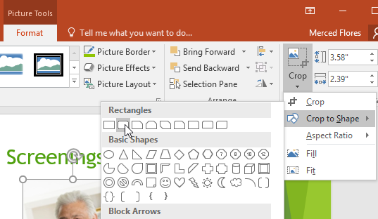 powerpoint 2016 formatting pictures
