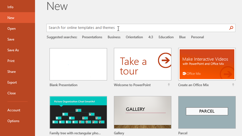 powerpoint 2016 creating and opening presentations